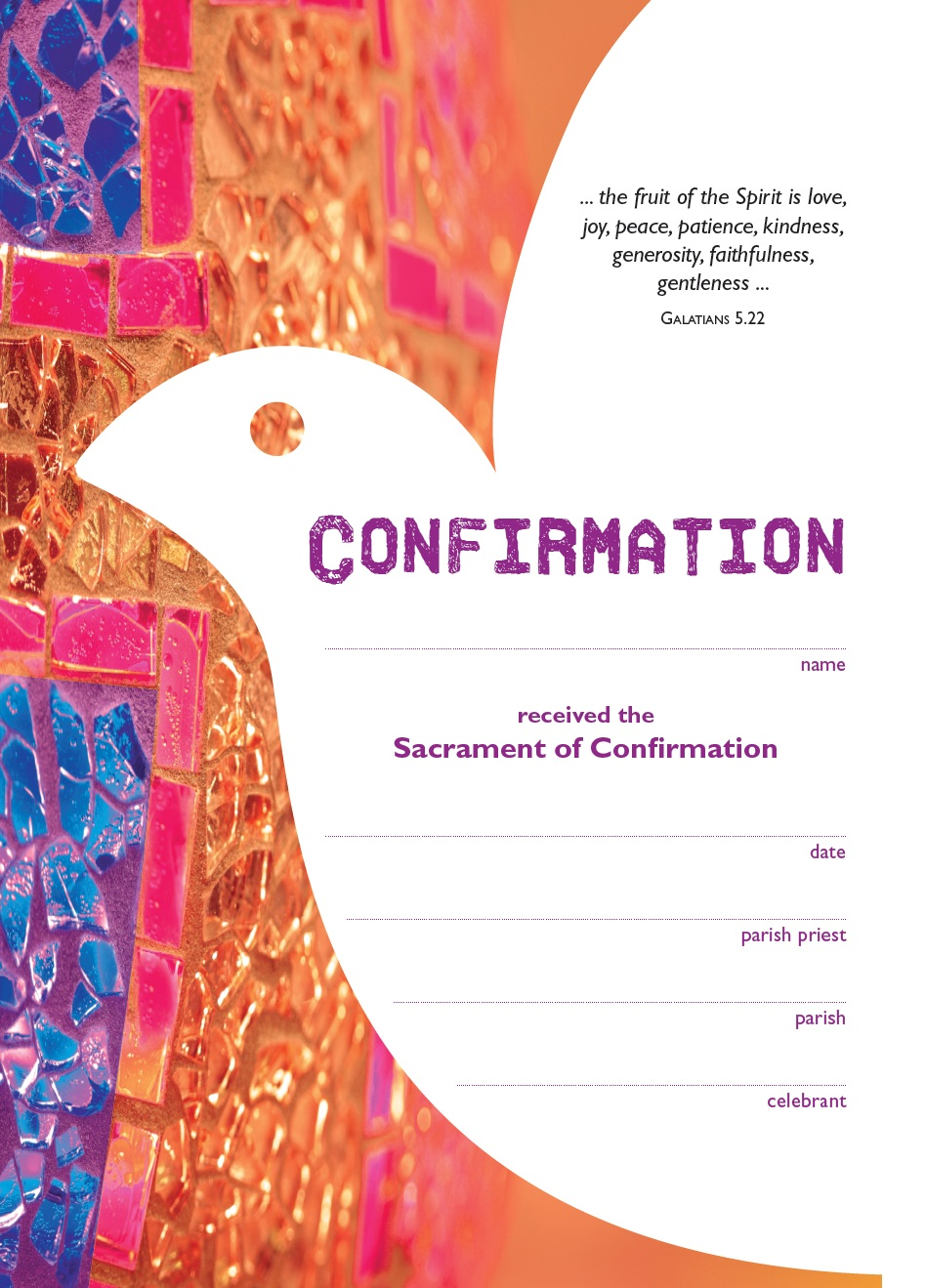 Becoming Catholic Confirmation Certificate Garratt Publishing