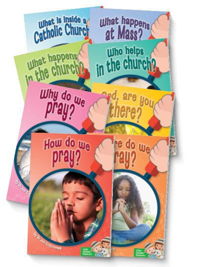 Little Catholic Explorers: The Church and Prayer Set of 8 Books