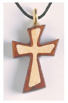 Bubinga & Maple Stylised Inlay Wooden Cross