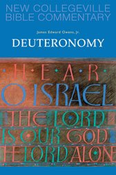 Deuteronomy New Collegeville Bible Old Testament Commentary Series Volume 6