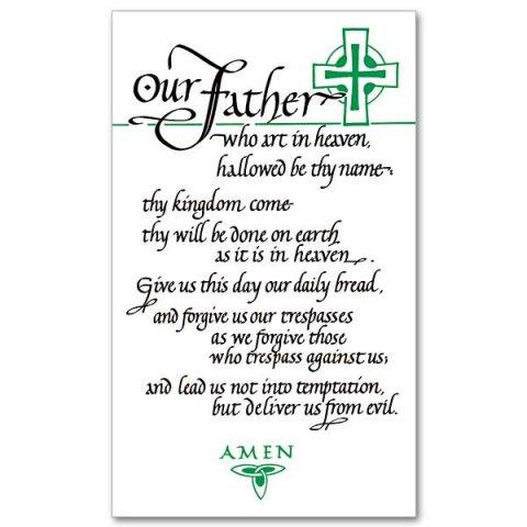 lord 39 s prayer prayer card pack of 25 cards was pr59 garratt publishing. Black Bedroom Furniture Sets. Home Design Ideas