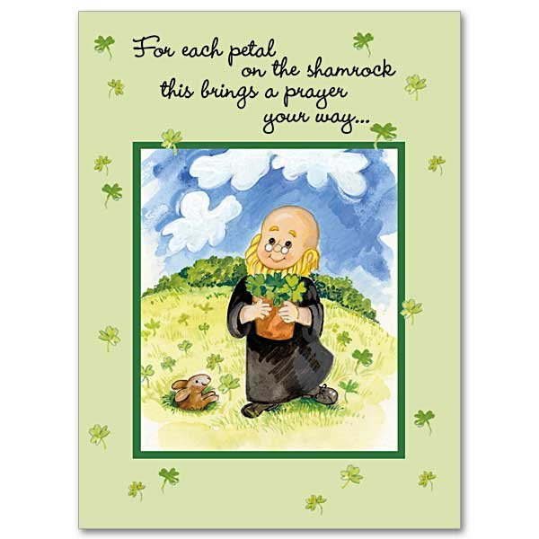 Feast day cards garratt publishing for each petal on the shamrock st patricks day card pack of 10 m4hsunfo