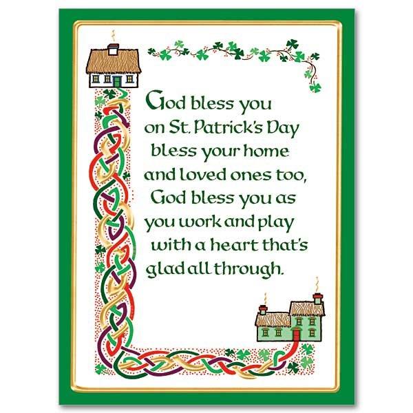 Feast day cards garratt publishing god bless you on st patricks day st patricks day card pack of 10 m4hsunfo