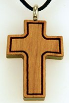 Cherry wood outline wooden cross