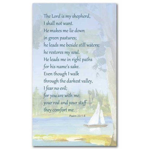 The Lord is my Shepherd (Psalm 23) Prayer Card pack 25