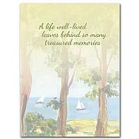 A Life Well-lived - Celebration of Life Sympathy Card pack of 10