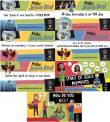 MJR set of 7 assorted banners